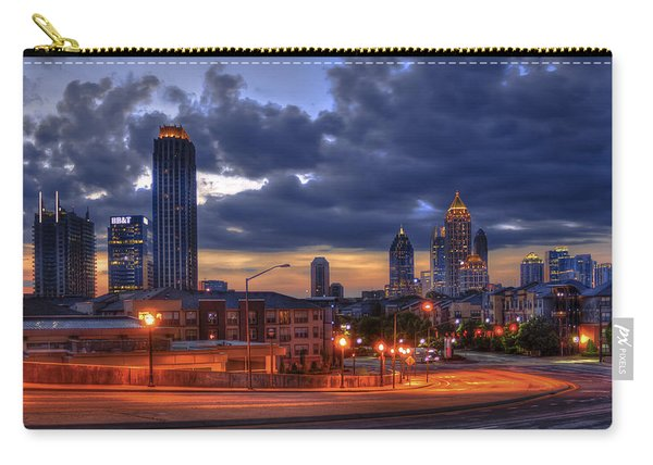 Street Lights At Atlantic Station Sunrise Carry-all Pouch