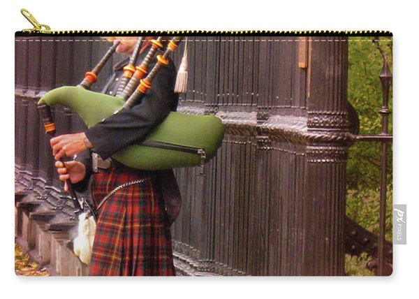 Street Performer Playing The Bagpipes Carry-all Pouch