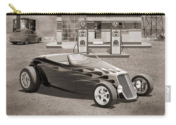 Street Rod At Frontier Station Sepia Carry-all Pouch