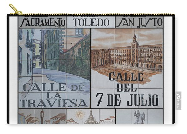 Street Signs Of Madrid Carry-all Pouch