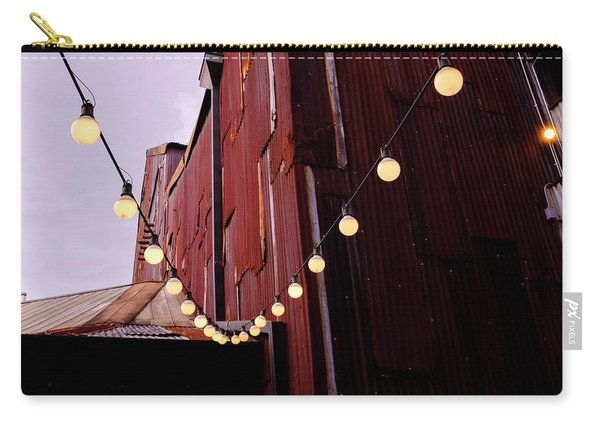 String Of Lights Near An Old Brown Building In Saint Augustine F Carry-all Pouch