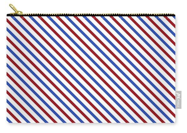 Stripes Diagonal Carmine Red Cobalt Blue Simple Modern Carry-all Pouch