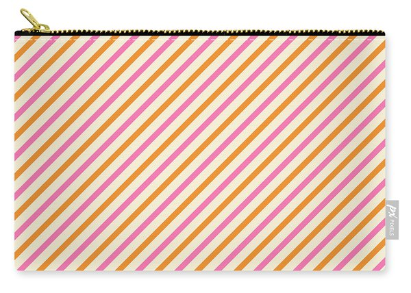 Stripes Diagonal Orange Pink Peach Simple Modern Carry-all Pouch
