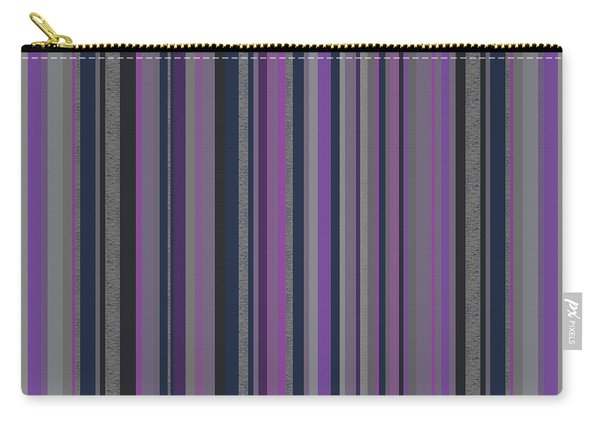 Stripes In Grayed Lavender Carry-all Pouch