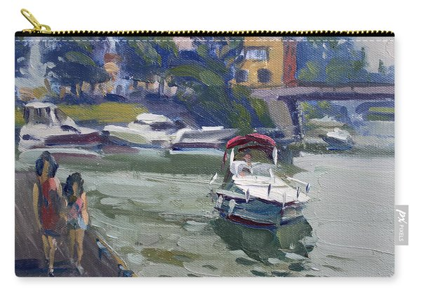 Strolling Along North Tonawanda Harbor Carry-all Pouch