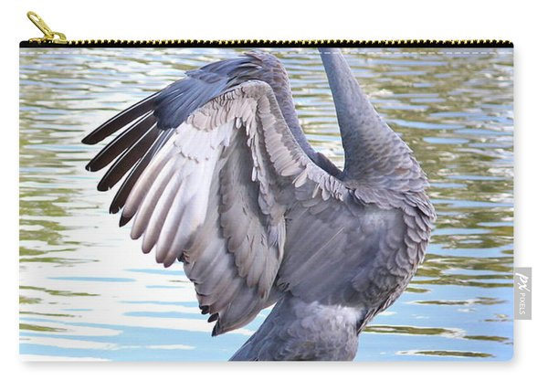 Strutting Sandhill Crane Carry-all Pouch