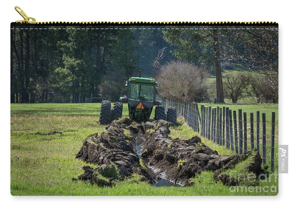 Stuck In The Muck Agriculture Art By Kaylyn Franks Carry-all Pouch