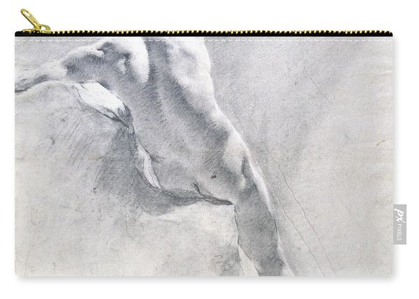 Study Of A Male Nude Carry-all Pouch