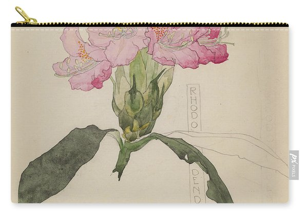 Study Of A Rhododendron, 1915 Carry-all Pouch