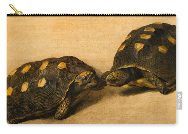 Study Of Two Brazilian Tortoises Carry-all Pouch