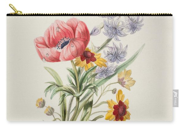 Study Of Wild Flowers Carry-all Pouch