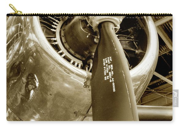 Stunning Propeller In Sepia Carry-all Pouch