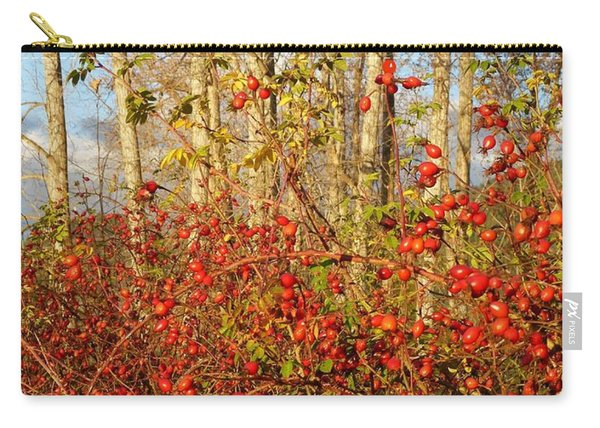 Stunning Rose Hips Carry-all Pouch