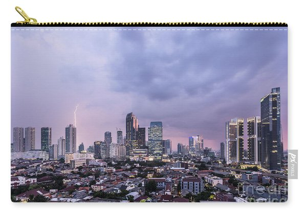 Stunning Sunset Over Jakarta, Indonesia Capital City Carry-all Pouch