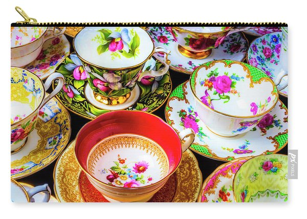 Stunning Tea Cups Carry-all Pouch