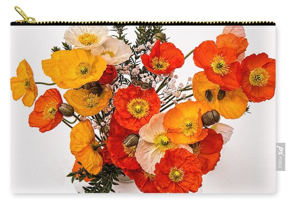 Stunning Vibrant Yellow Orange Poppies  Carry-all Pouch