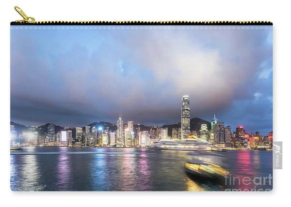Stunning View Of Hong Kong Island At Night.  Carry-all Pouch