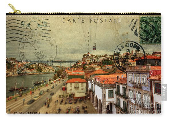 stylish retro postcard of Porto Carry-all Pouch