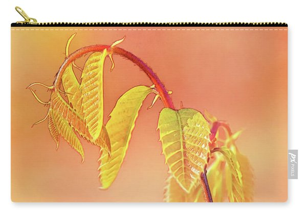 Stylized Baby Chestnut Leaves Carry-all Pouch