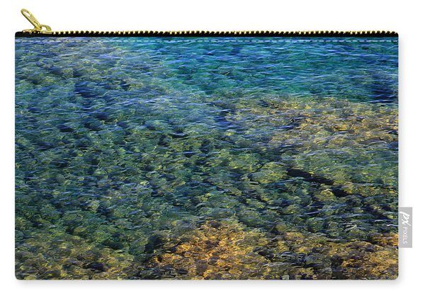 Submerged Rocks At Lake Superior Carry-all Pouch