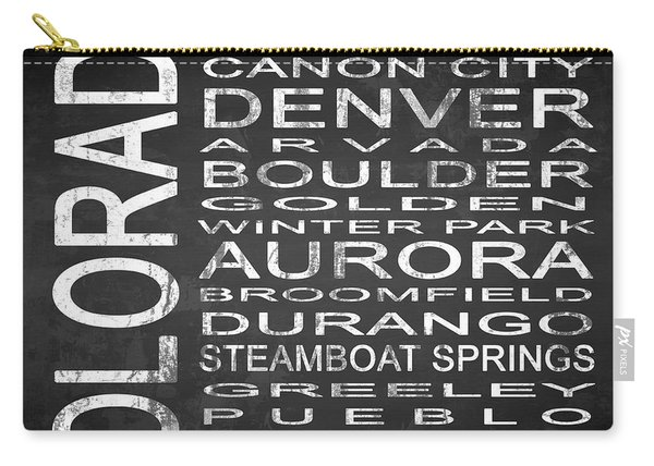 Subway Colorado State Square Carry-all Pouch