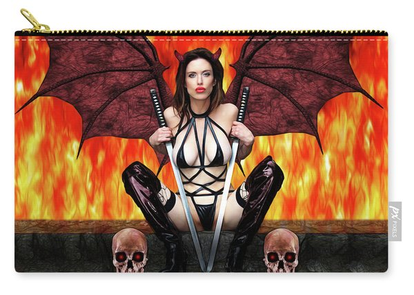 Succubus And Flames Carry-all Pouch