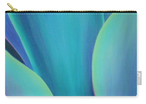 Carry-all Pouch featuring the painting Succulent Embrace by Sandi Whetzel