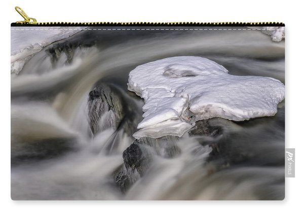 Carry-all Pouch featuring the photograph Sugar River Flowing by Tom Singleton