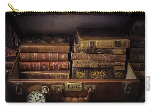 Suitcase Full Of Books Carry-all Pouch