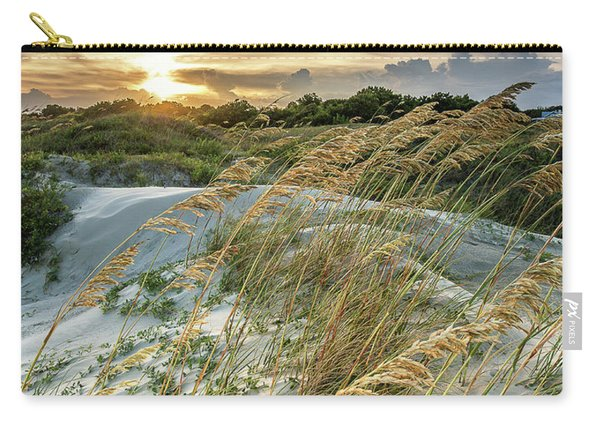 Carry-all Pouch featuring the photograph Sullivan's Island Dunes by Donnie Whitaker