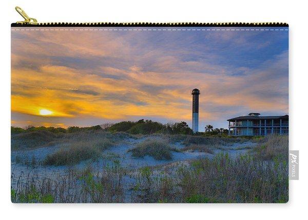 Sullivan's Island Lighthouse At Dusk - Sullivan's Island Sc Carry-all Pouch