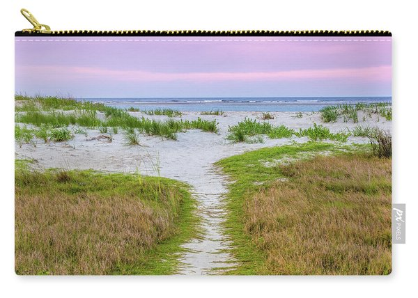 Carry-all Pouch featuring the photograph Sullivan's Island Natural Beauty by Donnie Whitaker