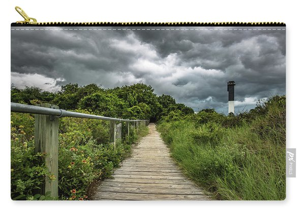 Carry-all Pouch featuring the photograph Sullivan's Island Summer Storm Clouds by Donnie Whitaker