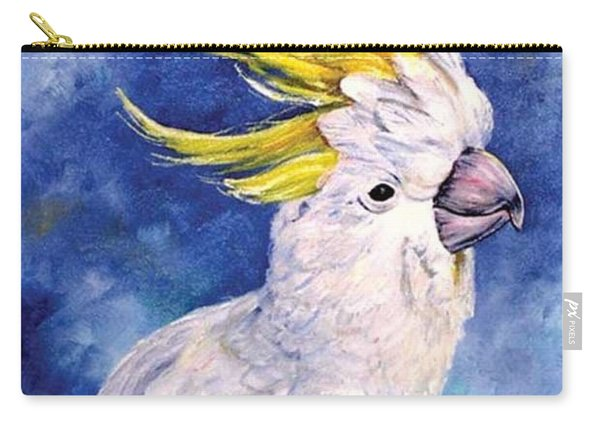 Carry-all Pouch featuring the painting Sulphur-crested Cockatoo by Ryn Shell