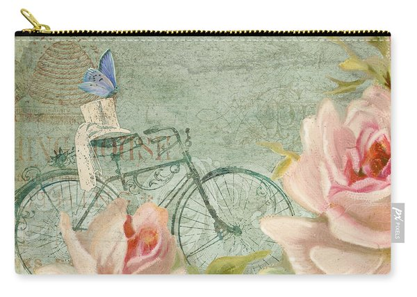 Summer At Cape May - Bicycle N Porch Roses Carry-all Pouch
