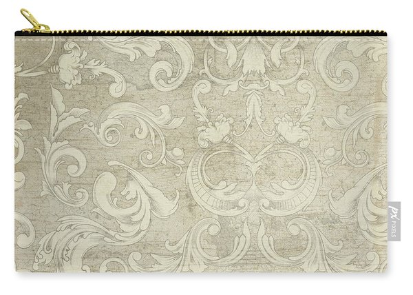 Summer At The Cottage - Vintage Style Damask Rose Border Carry-all Pouch