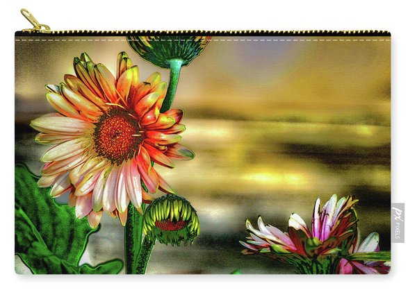 Carry-all Pouch featuring the photograph Summer Daisy by William Norton
