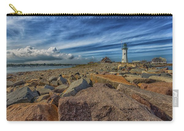 Summer Day At Scituate Lighthouse Carry-all Pouch