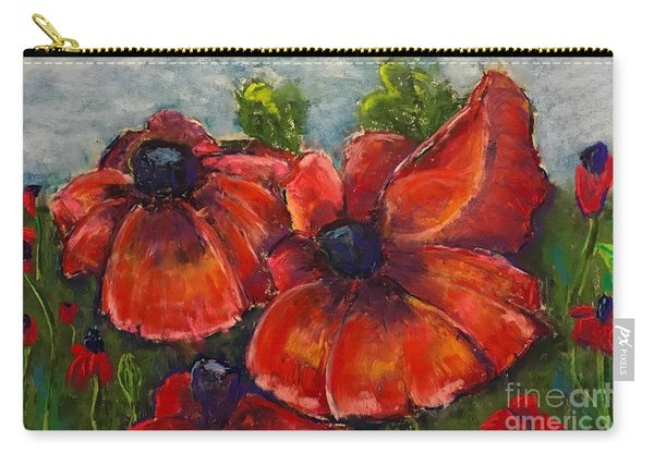 Summer Field Of Poppies Carry-all Pouch