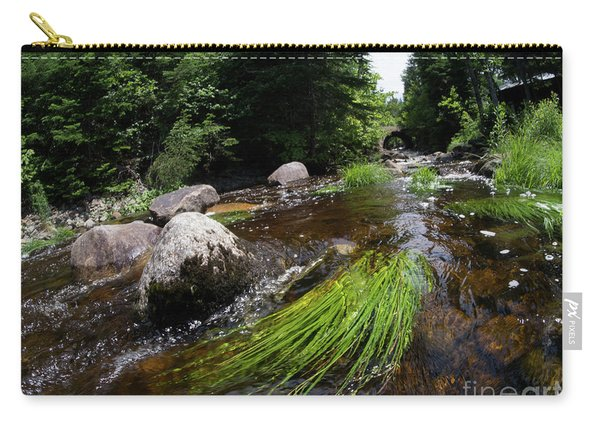 Summer Flow Of Water Near Rangeley Maine  -63322 Carry-all Pouch
