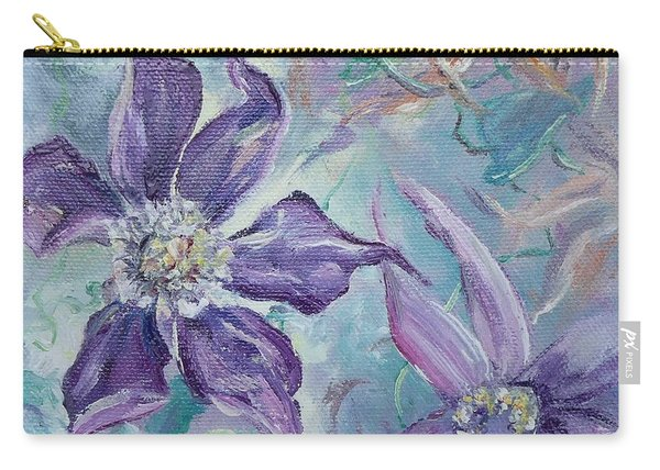 Carry-all Pouch featuring the painting Summer Flowers No. 1 by Ryn Shell