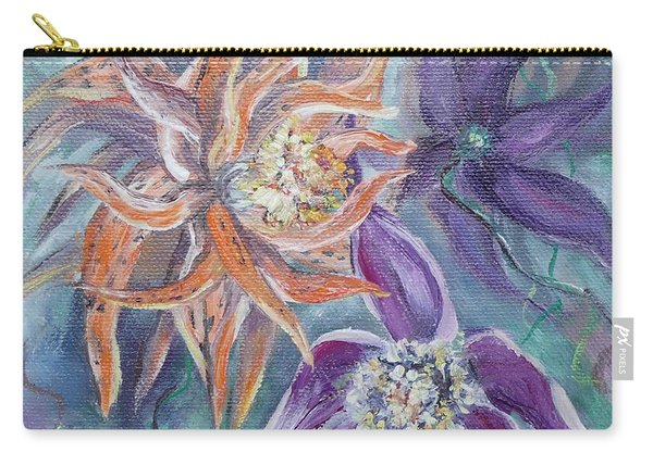 Carry-all Pouch featuring the painting Summer Flowers No. 2 by Ryn Shell