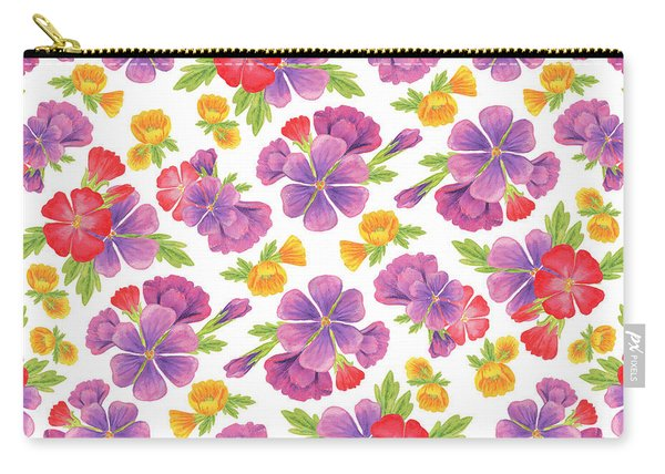 Summer Flowers Pattern Carry-all Pouch