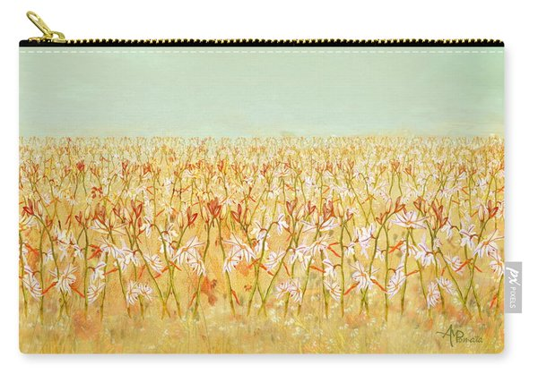 Carry-all Pouch featuring the painting Summer Outbreak by Angeles M Pomata