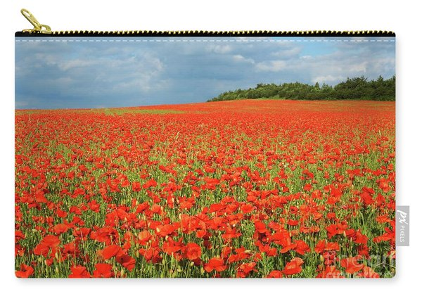 Summer Poppies In England Carry-all Pouch