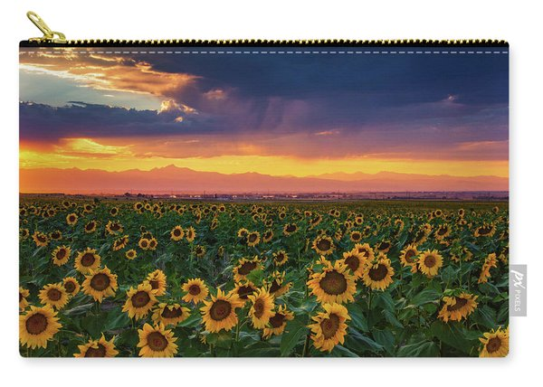 Carry-all Pouch featuring the photograph Summer Radiance by John De Bord