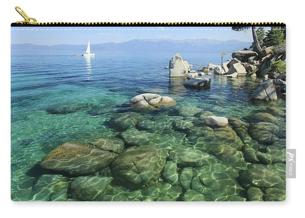 Carry-all Pouch featuring the photograph Summer Sail Portrait by Sean Sarsfield