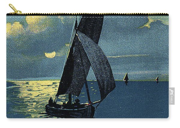 Summer Sailing Trip, Vintage Travel Poster Carry-all Pouch