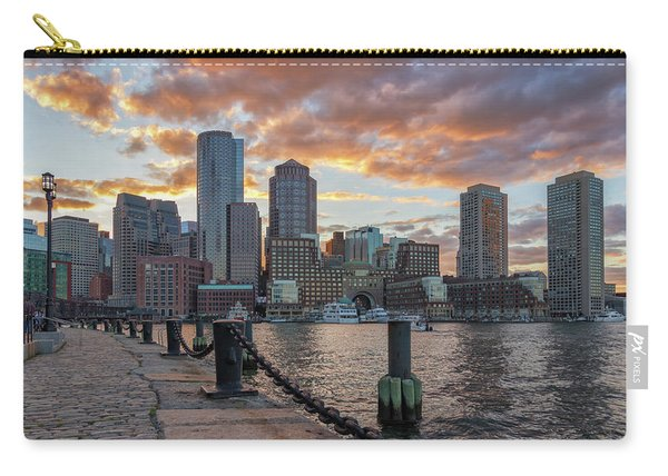 Summer Sunset At Boston's Fan Pier Carry-all Pouch