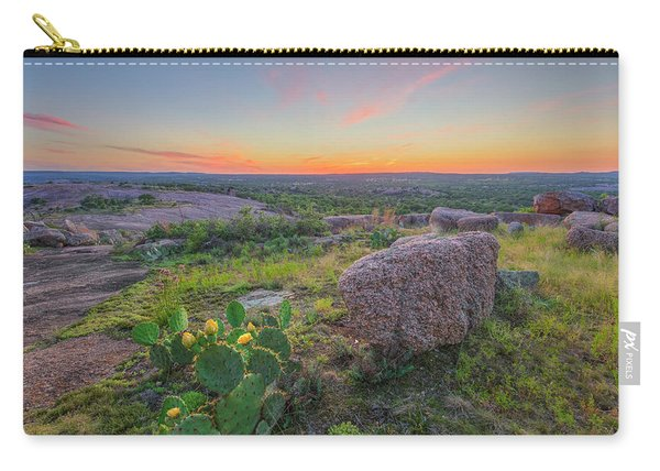 Summer Sunset From Enchanted Rock State Natural Area 4 Carry-all Pouch